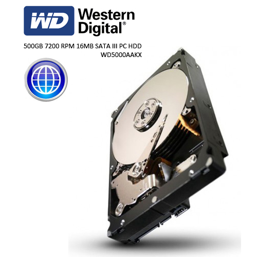 WD 3.5 Caviar Blue 500GB 7200 RPM 16MB SATA3 PC HDD WD5000AAKX