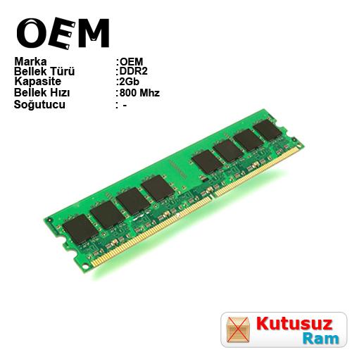 OEM 2GB 800Mhz DDR2 Pc Ram