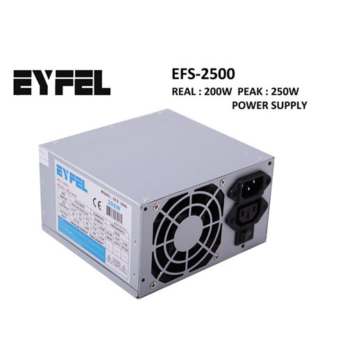 EYFEL EFS-2500 250W PEAK Atx Power Supply 8 Cm Fan