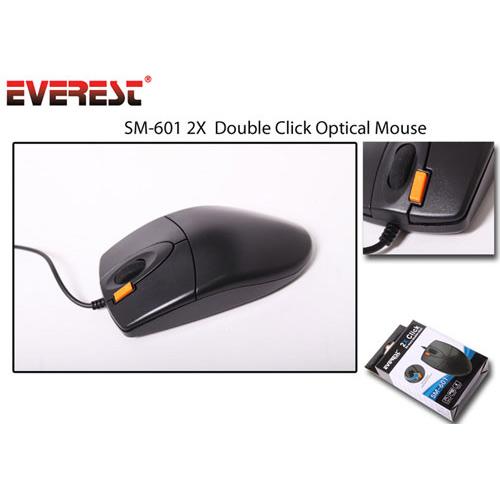 Everest SM-601 Usb Optic Siyah Mouse