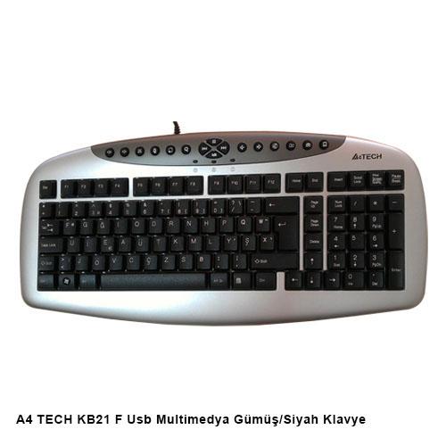 A4 TECH KB21 F Usb Multimedya Gümüş/Siyah Klavye