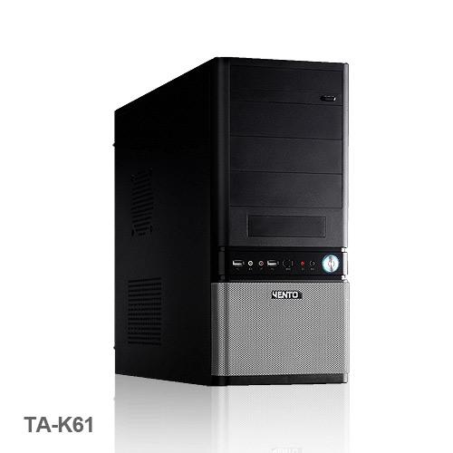 VENTO TA-K61 400W Atx Kasa Siyah 1 x USB 2.0, 1 x USB 3.0,