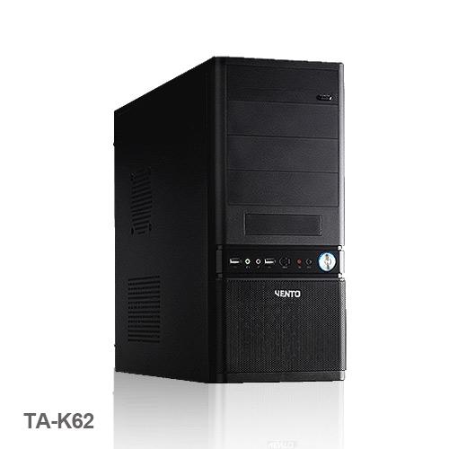 VENTO TA-K62 400W Atx Kasa Siyah 1 x USB 2.0, 1 x USB 3.0,