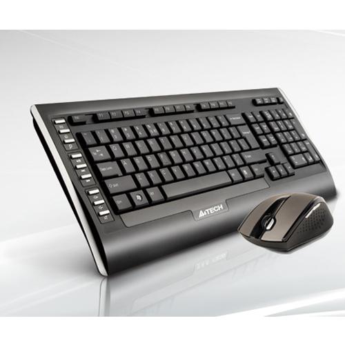 A4 TECH 9300F Q Kablosuz Usb Siyah Lux Multimedya Klavye/Mouse Set