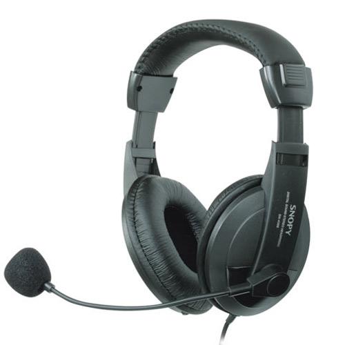 SNOPY SN-4388 Deri Profesyonel Mikrofonlu Kulaklık