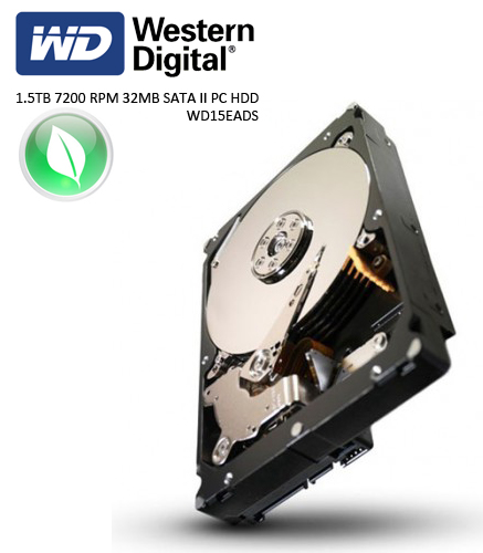 W.DIGITAL 3.5 Caviar Green 1.5TB 7200 RPM 16MB SATA II PC HDD WD15EACS