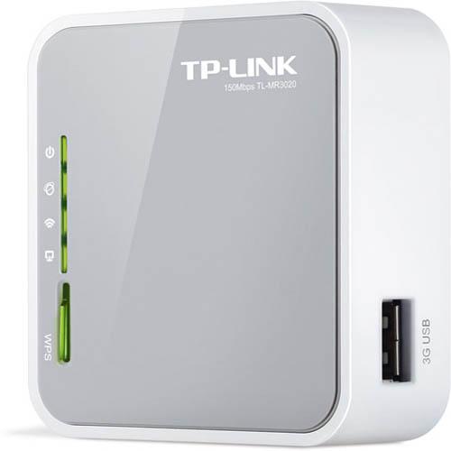 TP-LINK TL-MR3020 150Mbps 1 Port Kablosuz-Ethernet-USB Taşınabilir 3G Router 3G Destekli