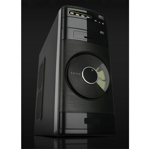 Power Boost VK-1622 400W A SECC Steel Piano Black 14 Cm Fan Önde Midi Tower ATX Kasa