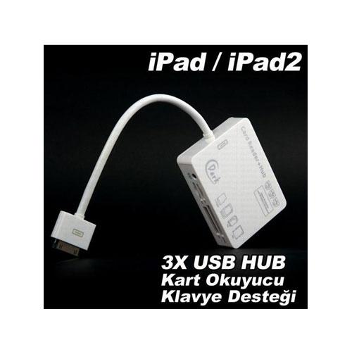 Connection Kit iphone 4s iPad/iPad2 5in1 3xUSB Çoklu Kart Okuyucu Combo Bağlantı Kiti