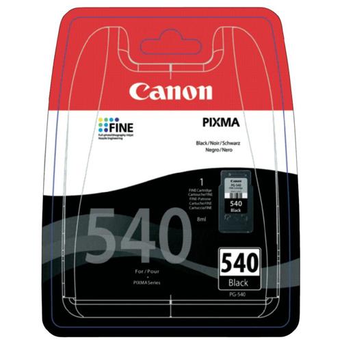 CANON PG-540 180 Sayfa Siyah Mürekkep Kartuş MG2150,MG3150 Modelleri