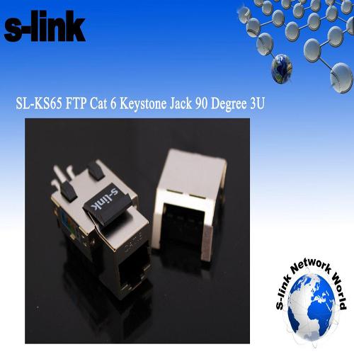 S-LINK SL-KS65 FTP CAT6 3U 90 DERECE KESTONE JACK