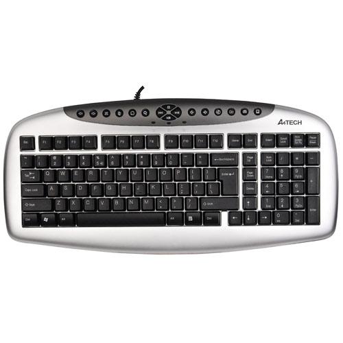 A4 TECH KB21 Q Usb Multimedya Gümüş/Siyah Klavye
