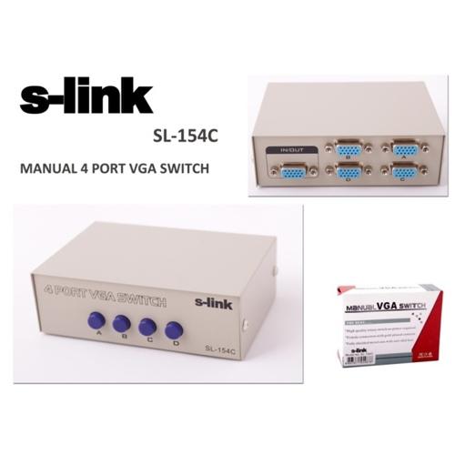 S-LINK SL-154C 4 Port Vga Çoklayıcı Manuel