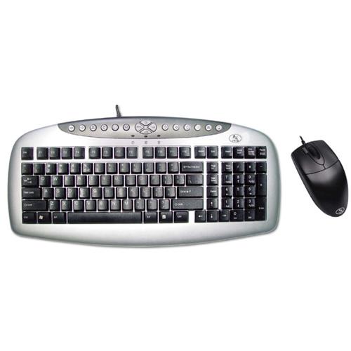 A4 TECH KB21-OP620D Q Ps/2 Gümüş/Siyah Klavye/Mouse Set