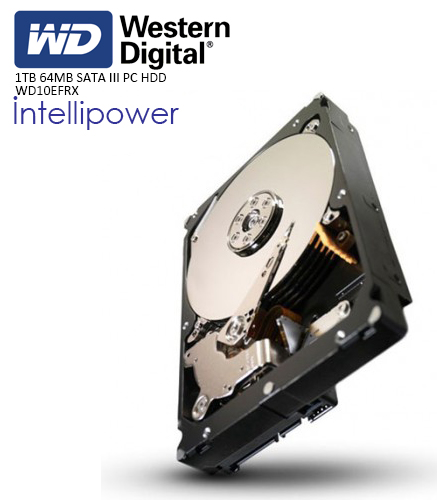 WD 3.5 RED 1TB INTELLIPOWER 64MB SATA3 NAS HDD WD10EFRX (7/24)