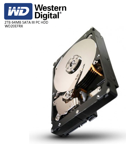 WD 3.5 RED 2TB INTELLIPOWER 64MB SATA3 NAS HDD WD20EFRX (7/24)