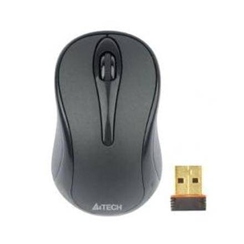 A4 Tech G3-280A Kablosuz+USB Optic V-Track (Padless) Siyah Mouse (Cam Yüzeyde de Çalışır)
