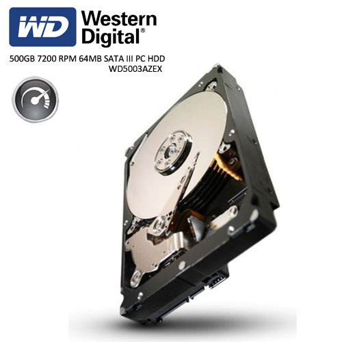 WD 3.5 Caviar Black 500GB 7200 RPM 64MB SATA3 PC HDD WD5003AZEX
