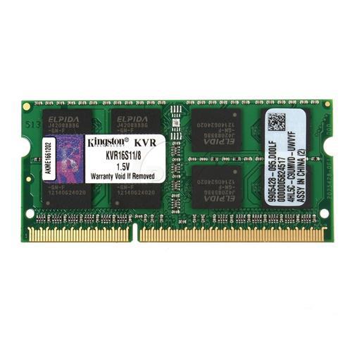 KINGSTON LV 8GB 1600Mhz DDR3 CL11 Notebook Ram KVR16LS11/8 Kutusuz (1.35V)