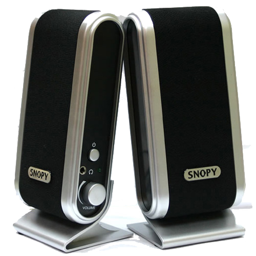 SNOPY SN-820 1+1 0.13W RMS Gümüş-Siyah Speaker
