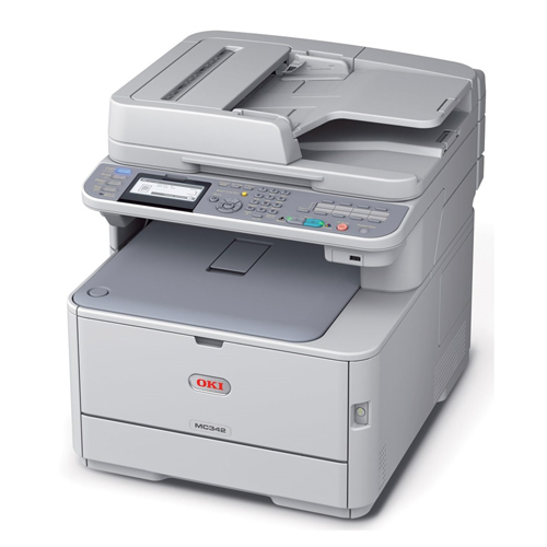 OKI Laserjet MC342DNW Renkli Laser Yazıcı A4 Fotokopi Tarayıcı Fax Dublex 23 ppm S/B 20 ppm Renkli Ethernet , Kablosuz