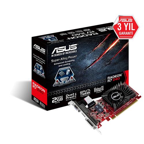 ASUS AMD 2GB R7 240 DDR3 128 Bit R7240-2GD3-L HDMI DVI-D