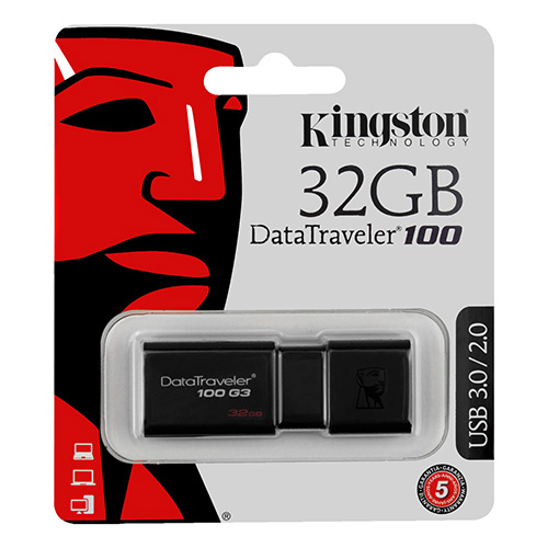 KINGSTON 32GB Usb 3.0 Flash Disk DT100G3/32