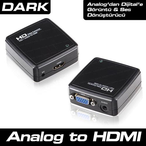 Dark DK-HD-AVGAXHDMI Adaptör VGA to HDMI Çevirici