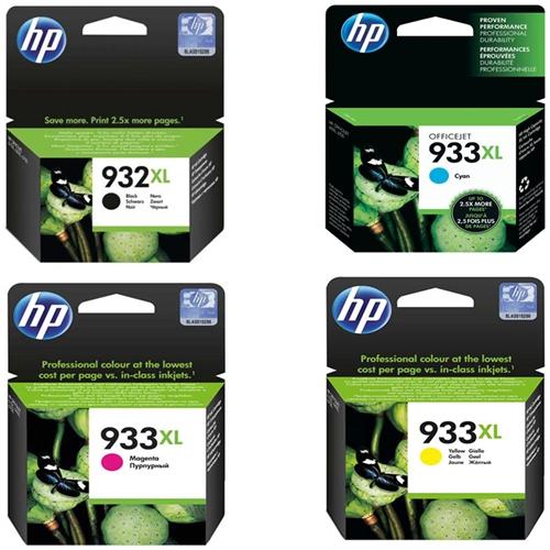 HP 932XL-933XL Multipack Siyah-Sarı-Mavi-Kırmızı Avantaj Kartuş Seti