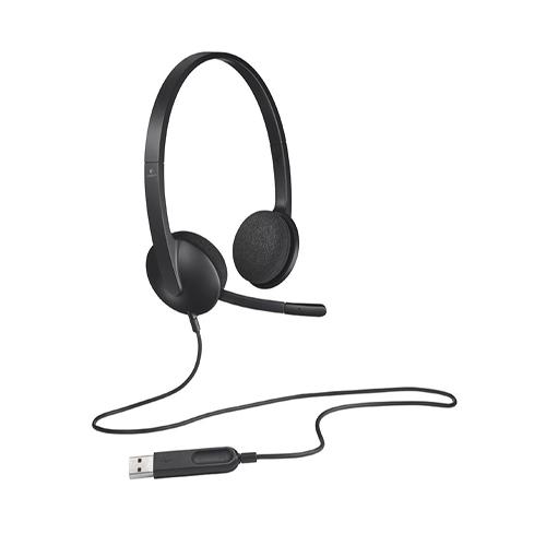 Logitech 981-000475 H340 Usb Mikrofonlu Headset Siyah