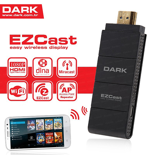 DARK DK-AC-TVEZCAST Kablosuz HDMI-DLNA Görüntü ve Ses Aktarım Kiti