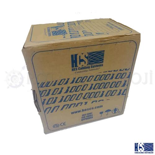 HCS H06-00402-BK Cat6 Utp ( 305 Metre ) 23 Awg Gri Box Network Kablosu