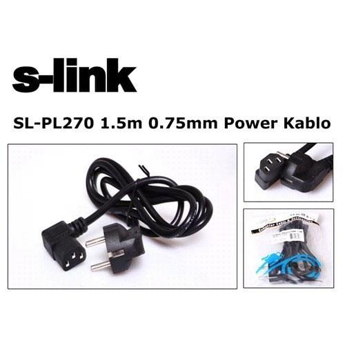 S-LINK SL-PL270 Siyah( 1.5 Metre ) 0.75mm Kasa Power Kablosu