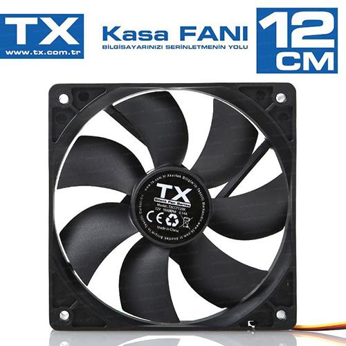 TX TXCCF12BK 12 Cm Siyah Kasa Fanı