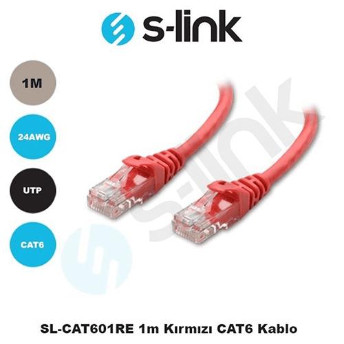 S-LINK SL-CAT601RE Cat6 Utp ( 1 Metre ) Kırmızı Patch Kablo