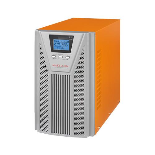 MAKELSAN POWERPACK SE 3 KVA 1F/1F On Line (5 - 15 Dk.) LCD 6x12V 9AH PF=0,9