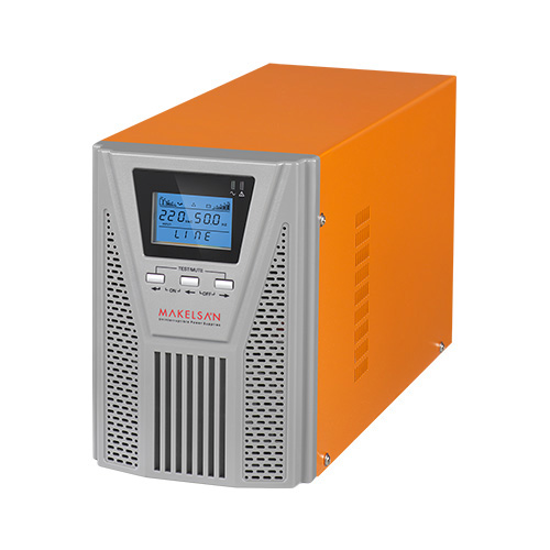 MAKELSAN POWERPACK SE 1 KVA 1F/1F On Line ( 7-13 Dk. ) LCD 2x12V 9AH PF=0,9
