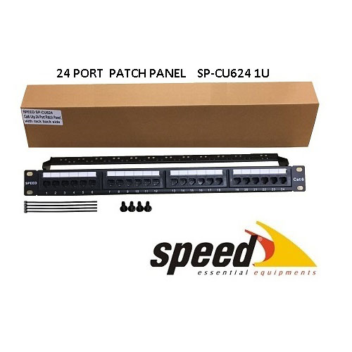 SPEED SP-CU624 24 PORT UTP CAT6 PATCH PANEL