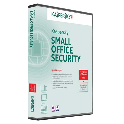 KASPERSKY Small Office Security 10PC + 10MD + 1FS 1 Yıl Box