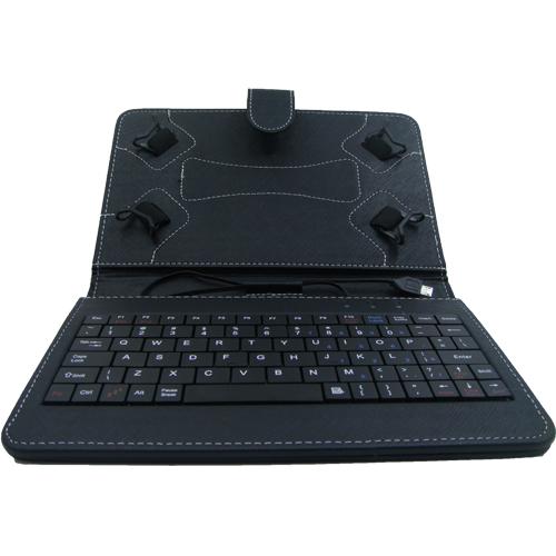 ERGOTECH 7 Micro Usb 5 Pin Tablet Kılıfı Klavyeli Siyah