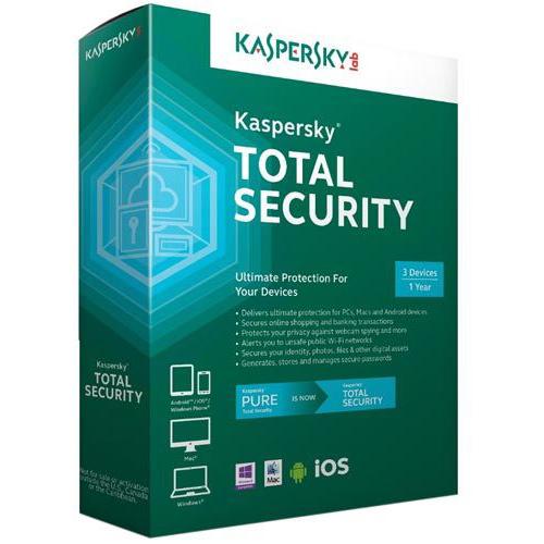 KASPERSKY Total Security 3 Kullanıcı 1 Yıl