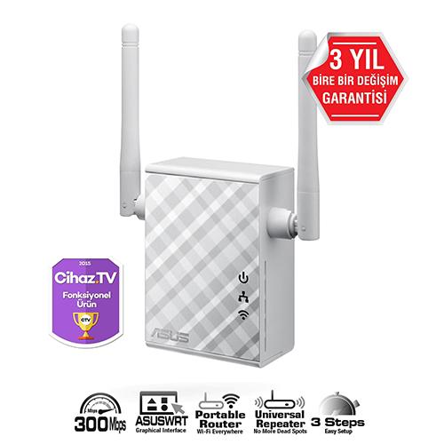 ASUS RP-N12 300Mbps Kablosuz-Ethernet Access Point Router