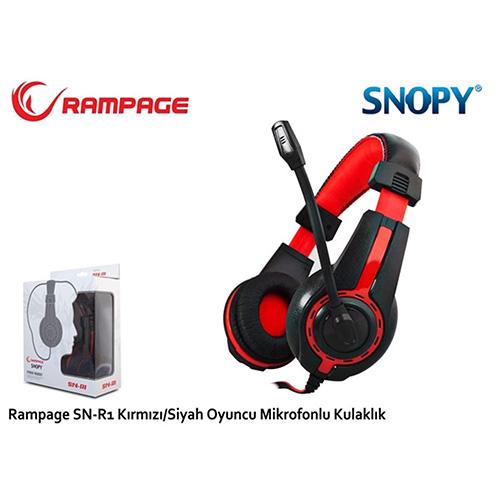 Rampage SN-R1 Gaming Mikrofonlu Kulaklık Siyah/Kırmızı