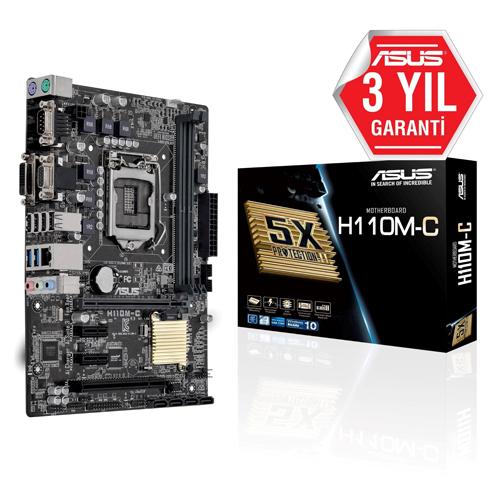ASUS INTEL H110M-C H110 DDR4 2133 VGA 1151P-7