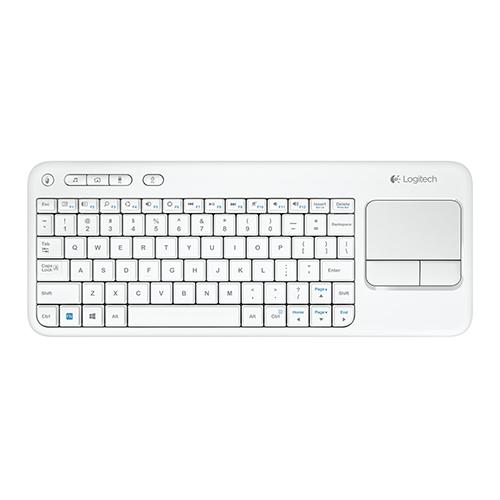 Logitech K400 Plus 920-007150 Q Kablosuz TouchPad li Beyaz Klavye