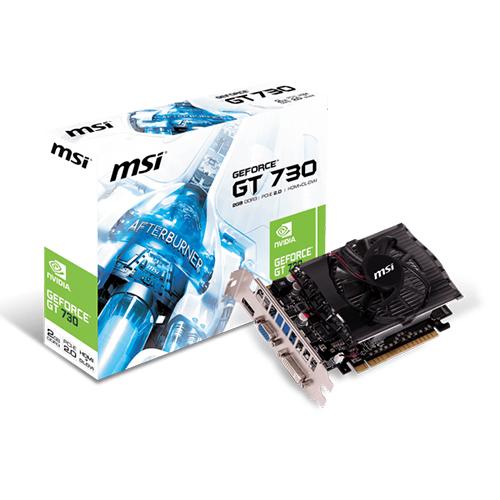MSI Nvidia 2GB GT730 DDR3 128 Bit N730-2GD3V2 HDMI DVI VGA