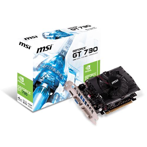 MSI Nvidia 4GB GT730 DDR3 128 Bit N730-4GD3V2 HDMI DVI VGA