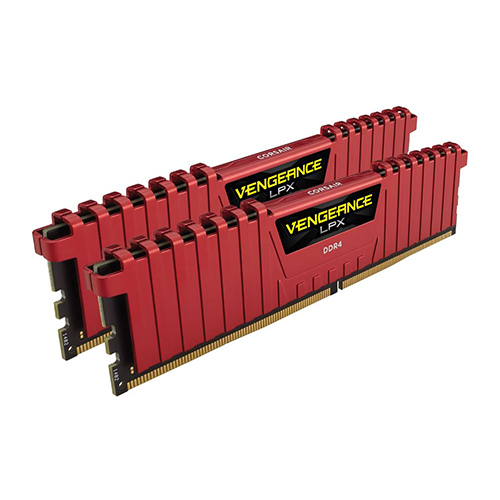 CORSAIR VENGEANCE LPX RED GAMING 16GB (2x8GB) 3200Mhz DDR4 CL16 Pc Ram CMK16GX4M2B3200C16R