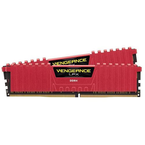 CORSAIR Vengeance Lpx Kırmızı 16GB (2x8GB) 2400Mhz DDR4 Soğutuculu CL16 Pc Ram CMK16GX4M2A2400C16R