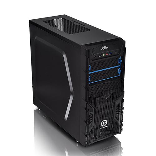THERMALTAKE Versa H23 CA-3B1-50M1WE-00 500W Mid Tower Gaming Kasa Mesh Panel Şeffaf Pencere iç dış siyah USB 3,0